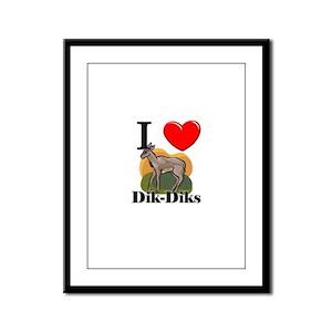 I Love Dik-Diks Framed Panel Print