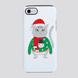 The isolated cute cat wearin iPhone 8/7 Tough Case