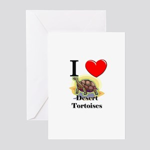 I Love Desert Tortoises Greeting Cards (Pk of 10)