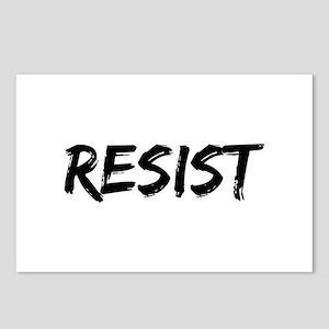 Resist In Black Text Postcards (Package of 8)