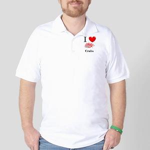 I Love Crabs Golf Shirt