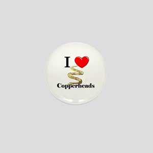 I Love Copperheads Mini Button