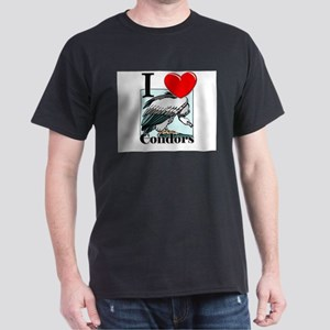 I Love Condors Dark T-Shirt