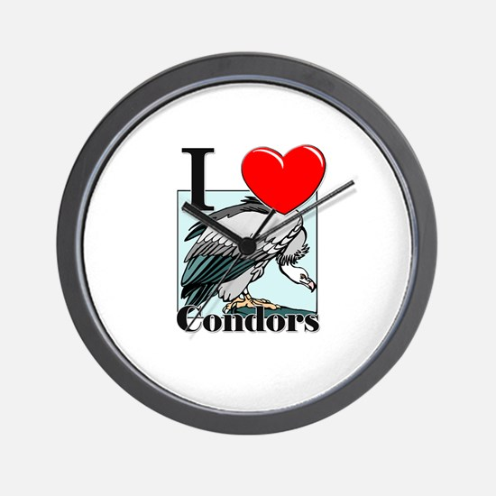 I Love Condors Wall Clock
