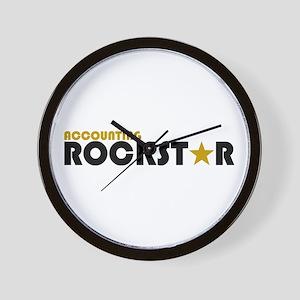 Accounting Rockstar2 Wall Clock