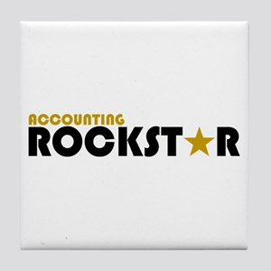 Accounting Rockstar2 Tile Coaster