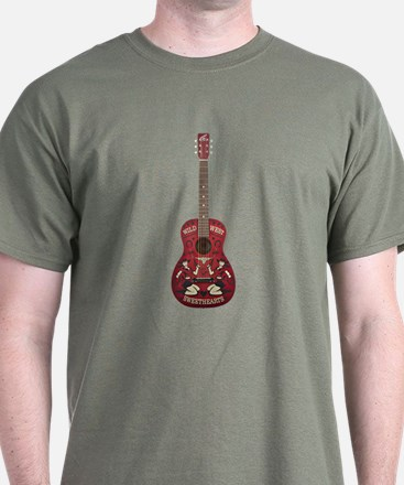 Sweetheart Cowboy Guitar on T-Shirt