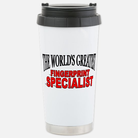 """The World's Greatest Fingerprint Specialist"" Mugs"