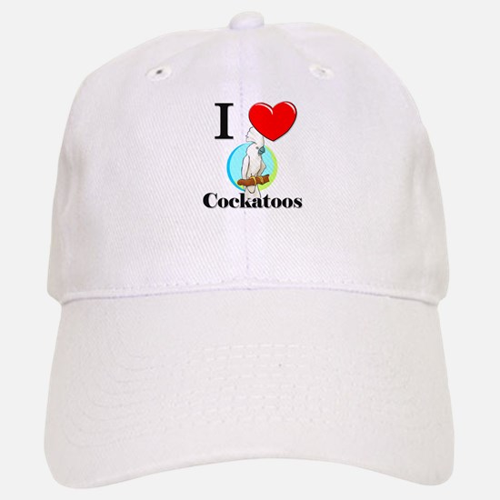 I Love Cockatoos Baseball Baseball Cap