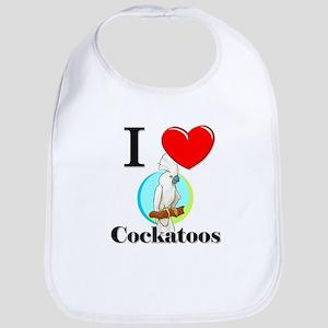 I Love Cockatoos Bib