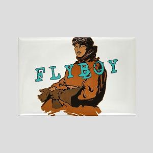 FLYBOY Vintage Pilot Rectangle Magnet