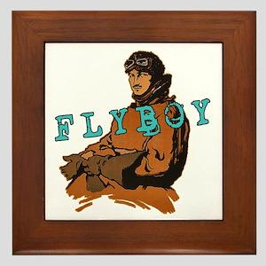 FLYBOY Vintage Pilot Framed Tile