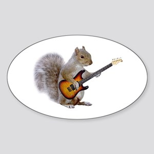 Squirrel Guitar Rectangle Sticker