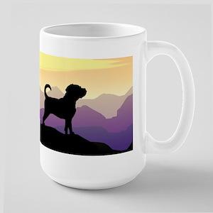 Purple Mountains Puggle Large Mug