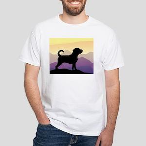 Purple Mountains Puggle White T-Shirt