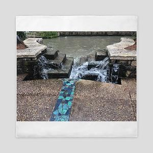 Fountain on Riverwalk Queen Duvet