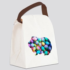 Easter Egg Guinea Pig Canvas Lunch Bag