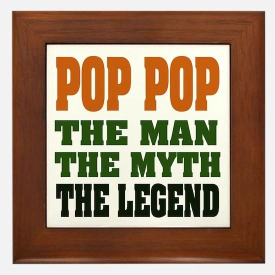 POP POP - the legend Framed Tile
