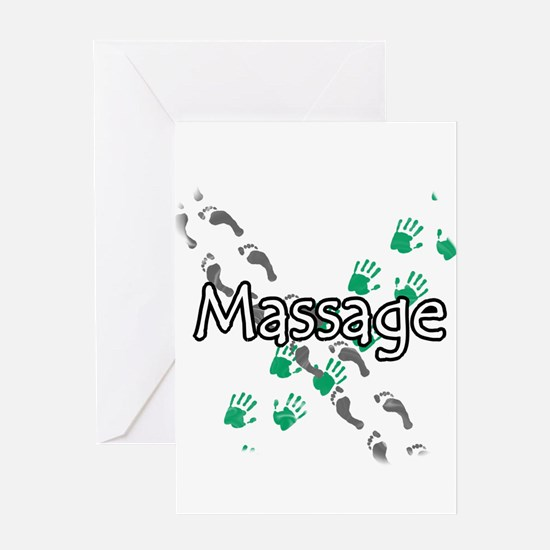 Feet and Hands Massage Greeting Card
