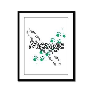 Feet and Hands Massage Framed Panel Print