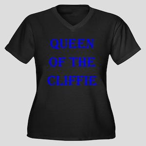 Queen - Cliffie 2 Women's Plus Size V-Neck Dark T-