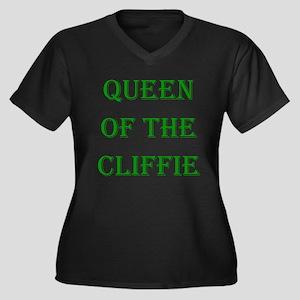 Queen - Cliffie 3 Women's Plus Size V-Neck Dark T-