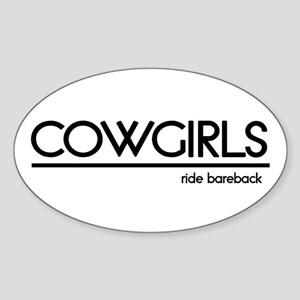 Cowgirl Joke Oval Sticker