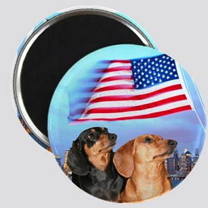 USA Dachshunds Magnet