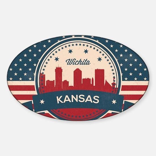 Retro Wichita Kansas Skyline Decal