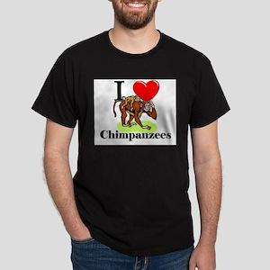 I Love Chimpanzees Dark T-Shirt