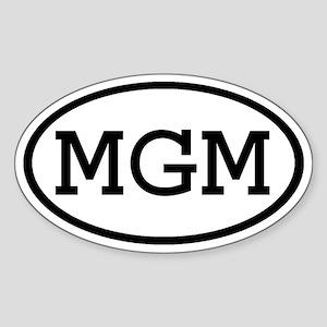 MGM Oval Oval Sticker
