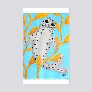 Happy Harbor Seal Rectangle Sticker