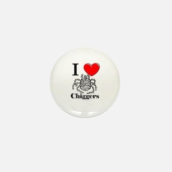 I Love Chiggers Mini Button