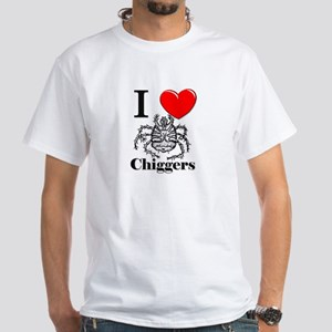 I Love Chiggers White T-Shirt