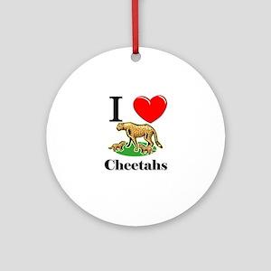 I Love Cheetahs Ornament (Round)