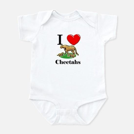 I Love Cheetahs Infant Bodysuit