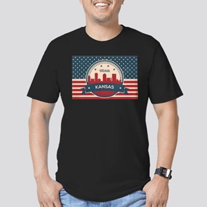 Retro Wichita Kansas Skyline T-Shirt