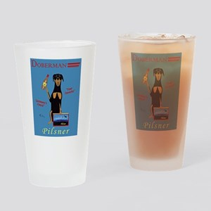 Doberman Pilsner Drinking Glass