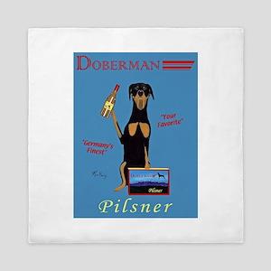 Doberman Pilsner Queen Duvet