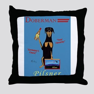 Doberman Pilsner Throw Pillow