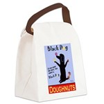 Black Dog Doughnuts Canvas Lunch Bag