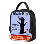 Black Dog Doughnuts Neoprene Lunch Bag