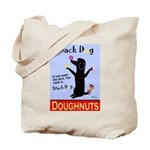 Black Dog Doughnuts Tote Bag