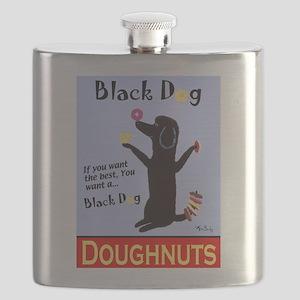 Black Dog Doughnuts Flask
