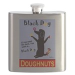 Black Dog Doughnuts Flask