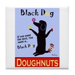 Black Dog Doughnuts Tile Coaster