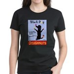 Black Dog Doughnuts Women's Dark T-Shirt