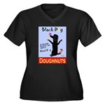 Black Dog Do Women's Plus Size V-Neck Dark T-Shirt