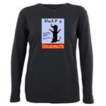 Black Dog Doughnuts Plus Size Long Sleeve Tee