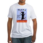 Black Dog Doughnuts Fitted T-Shirt